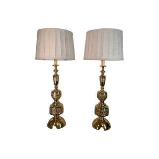 James Mont Solid Brass Lamps -  Pair