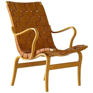 "Bruno Mathsson Leather ""EVA"" Lounge Chair"