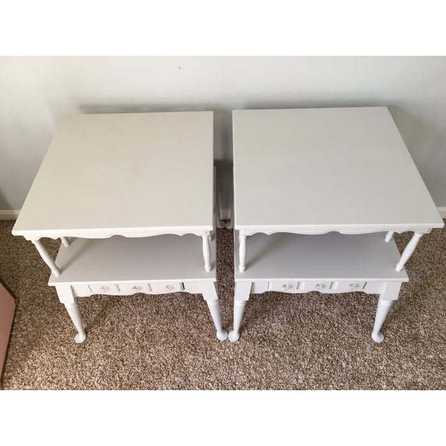 Vintage Transitional Nightstands - Pair - Image 3 of 5