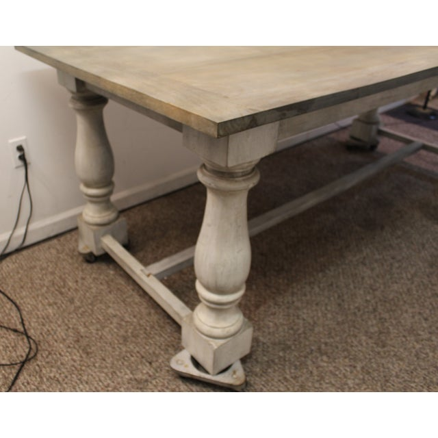 Primitive French Country Dining Table - Image 7 of 11