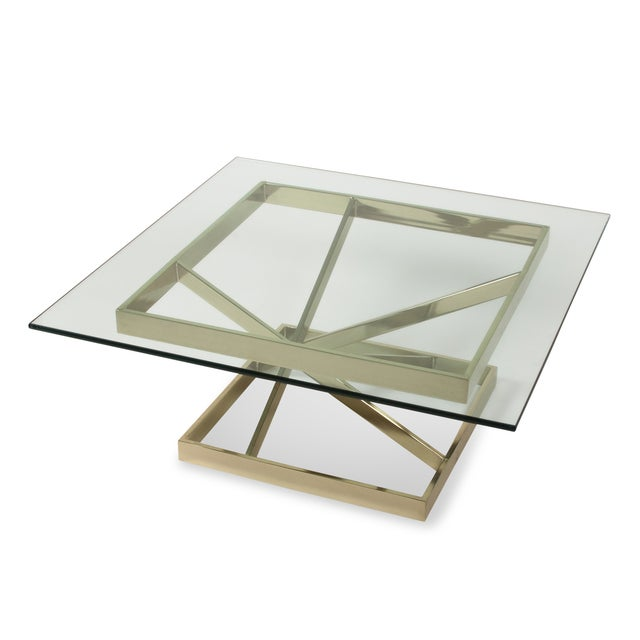 1980s Intersecting Angles Coffee Table - Image 6 of 9