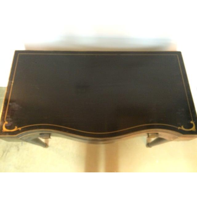 Image of Vintage 1950s Black Fliptop Chinoiserie Desk