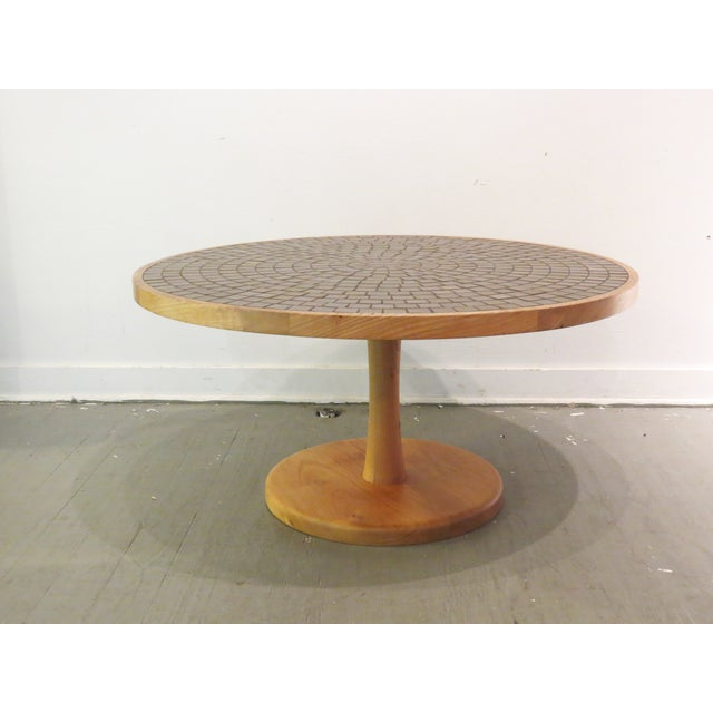Vintage Round Martz Tile Top Coffee Table