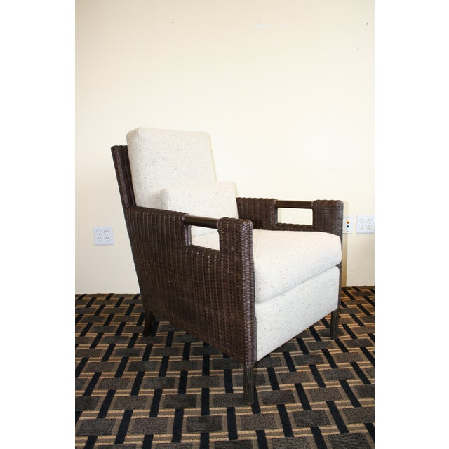 McGuire Thomas Pheasant Woven Core Club Chair - Image 3 of 8