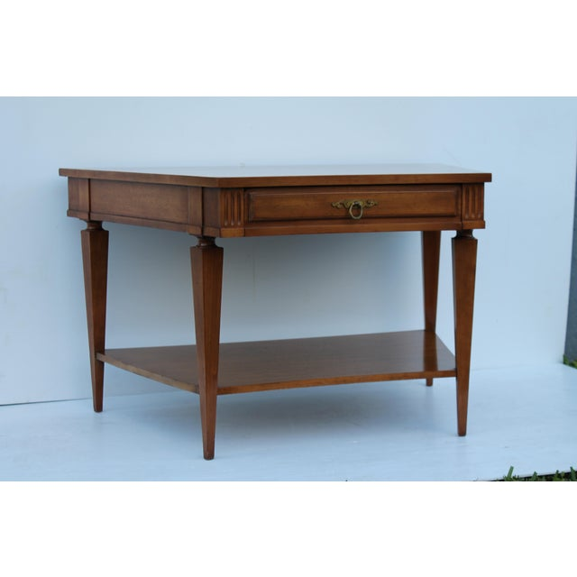 John Widdicomb Mid-Century Curved High End Walnut Accent Table - Image 3 of 11
