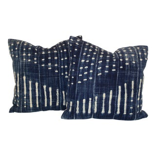 Vintage African Indigo Pillows- A Pair