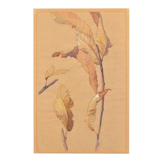 """""""Autumn"""" an original watercolour on paper from France c.1940."""