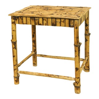Vintage Tortoise Bamboo Table
