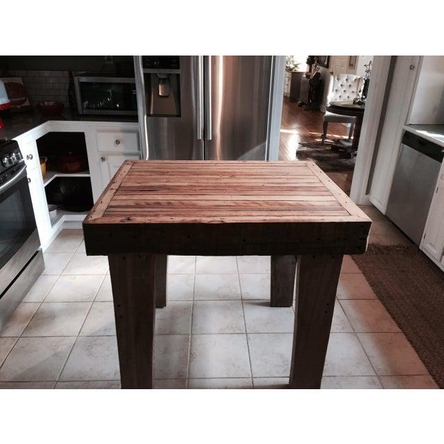 Reclaimed Wood Kitchen Island - Image 3 of 3