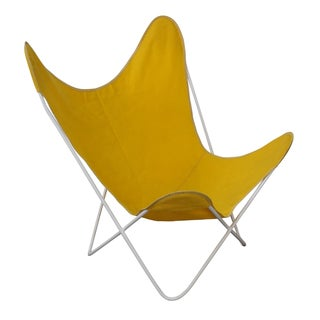 Knoll Hardoy Mid-Century Modern Iron Frame Butterfly Chair