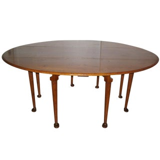 Giant Drop Leaf Dining Oval Table - 6'5""