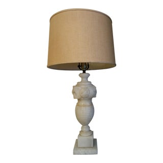 Neoclassical Alabaster Table Lamp