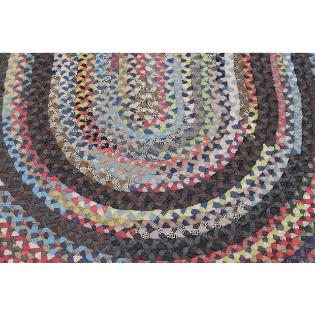 Early 20th Century Large Room Size Braided Rug - Image 5 of 6
