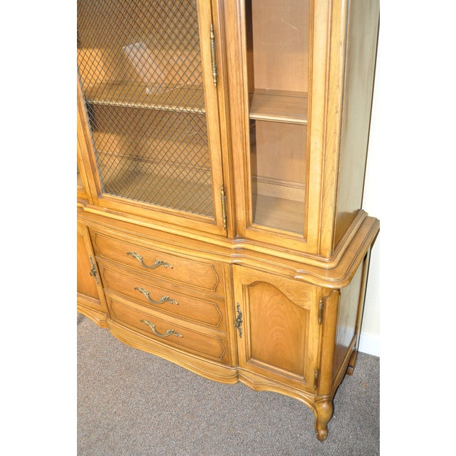 French Provincial Walnut Cabinet - Image 7 of 8