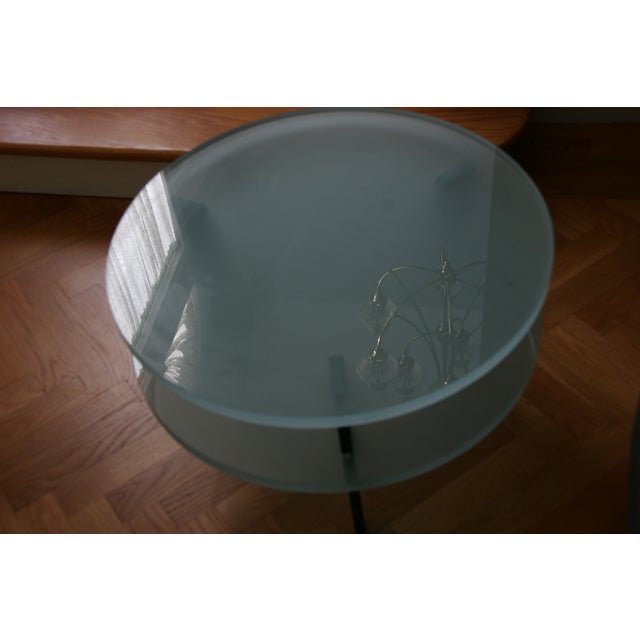 Glass Saporiti Italia End Tables - Image 3 of 4
