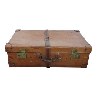 Vintage Leather Suitcase in Large Size