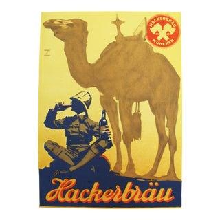 1926 Original German Beer Poster Hackerbrau