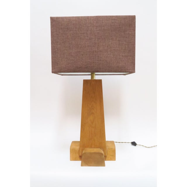 Martin & Brockett Cross Base Pine Table Lamp - Image 2 of 6