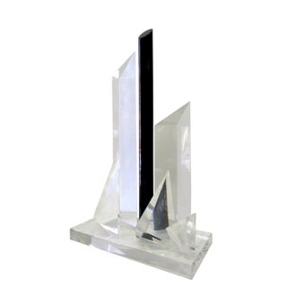 Architectural Geometric Lucite Sculpture
