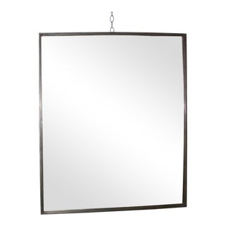Industrial Steel Rectangular Wall Mirror, Contemporary