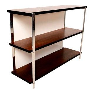 Custom Bookcase in Mahogany & Aluminum