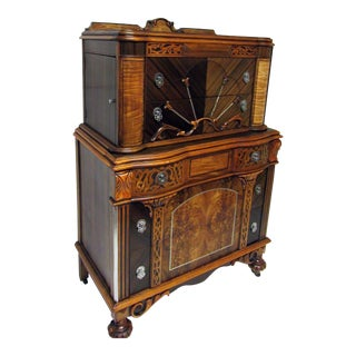 Gorgeous Art Nouveau Gentleman's Chest With Side Compartments