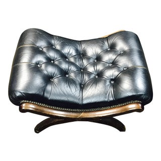 Vintage Tufted Leather Ottoman