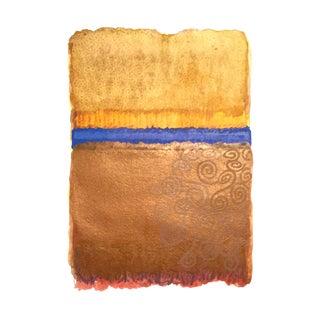 "Modern ""Golden Klimpt"" Watercolor Painting"