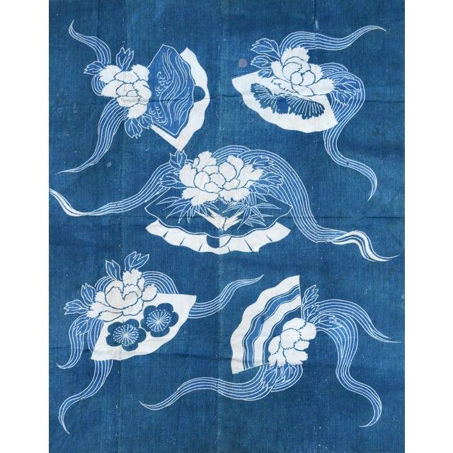 Antique Japanese Indigo Tsutsugaki Cloth - Image 1 of 6