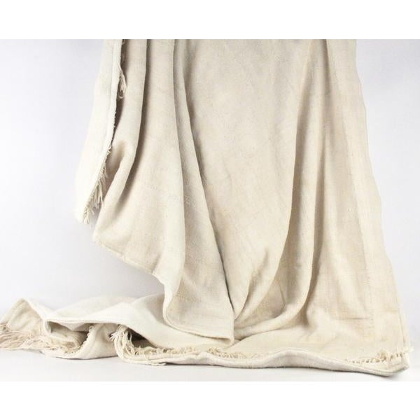Image of Nude Mud Cloth Throw Blanket