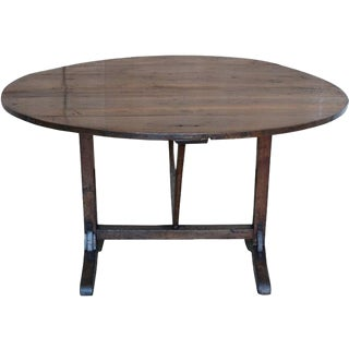 French Elm Wood Wine Tasting Table