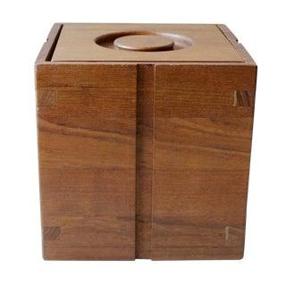 Vintage Kalmar Danish Modern Teak Ice Bucket