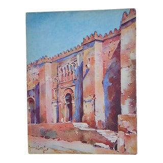 Vintage Lithograph Spanish View, Cordova