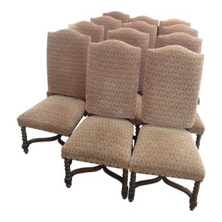 Spanish Style Chairs With Turned Legs - Set of 12