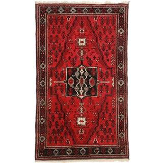 """RugsinDallas Vintage Afghan Wool Rug - 3′6″ × 5′11"""""""