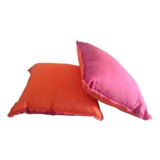 Linen Eyelash Pillows - A Pair