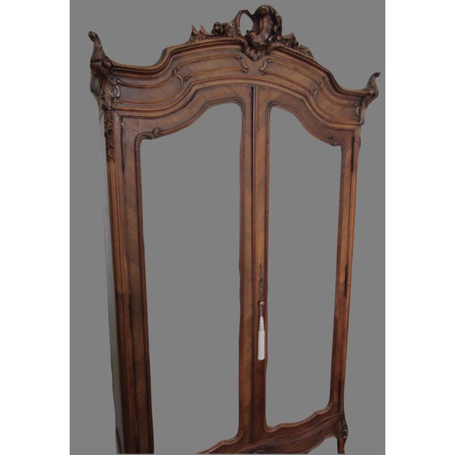 Mirrored Carved Wood Armoire - Image 3 of 10