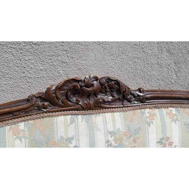 Image of Antique French Louis XV Style Settee