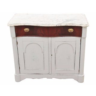 Marble Top Hall Cabinet