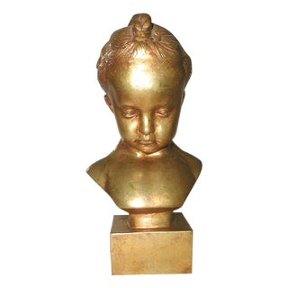 Italian Gilt Sculpture of a Child