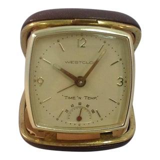 Westclox Mid-Century Modern Time & Temperature Travel Clock