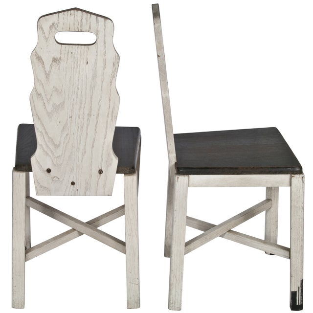 Vintage Wood Sellers Dining Chairs - A Pair - Image 2 of 3