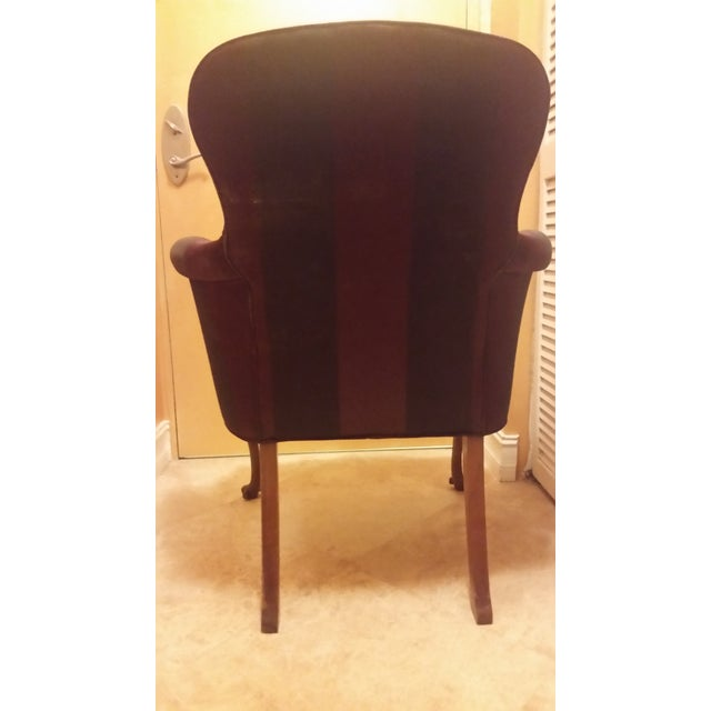 Vintage reupholstered southwood queen anne chair chairish for Reupholstered chairs for sale
