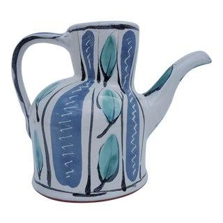 Nina Ratrie handmade and painted Decorative Ceramic Jug Pitcher Vase .
