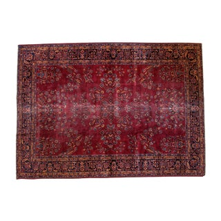 "Vintage Distressed Turkish Carpet - 8'8"" X 12'"