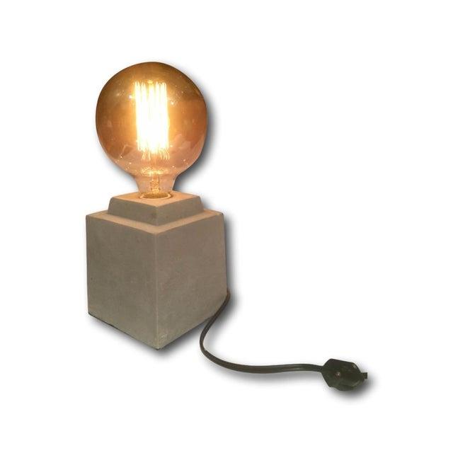 Image of Block Concrete Industrial Desk Lamp