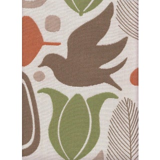 Beacon Hill Tangerine Finmark Fabric - 3.625 Yards