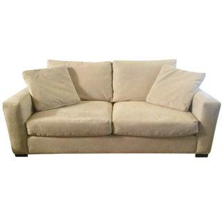 Room & Board Cream Microsuede Sofa