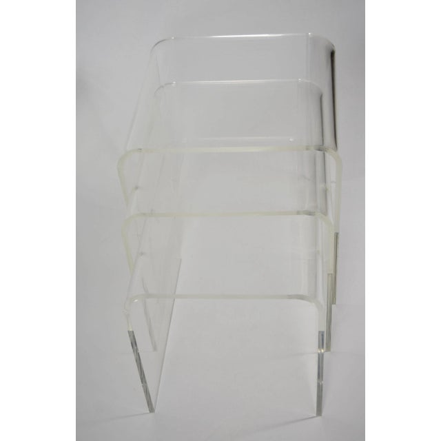 Set of Three Lucite Nesting Tables - Image 6 of 7