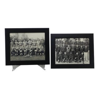 Vintage Basketball & Baseball Photographs - Pair